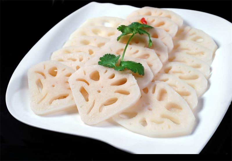 Lotus Rhizome Slices Sliced Rhizomes Lotus High Quality Fresh and Edible Lotus Root Chips Vegetable