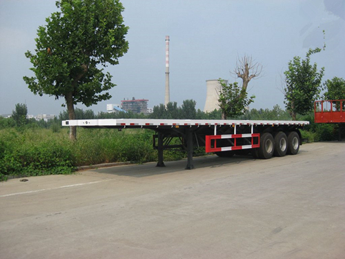 Three axles container carrier semi trailer