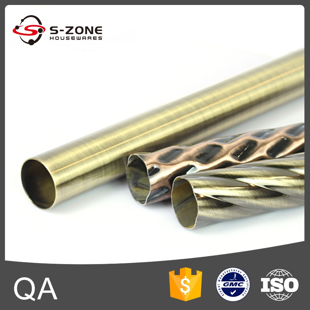 curved stainless steel curtain rod