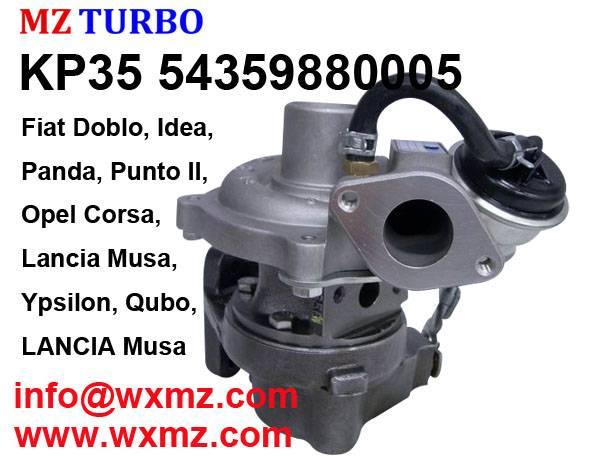 KP35 54359880005 turbocharger suit for Fiat Doblo, Idea, Panda, Punto II, Qubo, Lancia Musa, Ypsilon