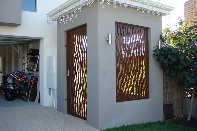 metal privacy fence panels