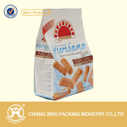 Resealable Plastic Stand Up Pouch for Cookie Packaging