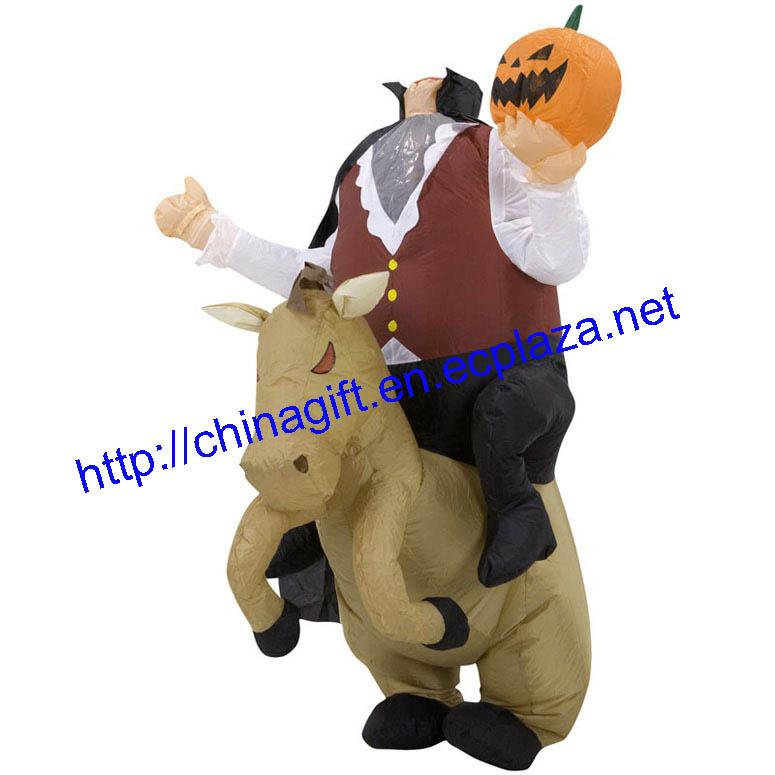 Inflatable Headless Horseman Adult Halloween Costume