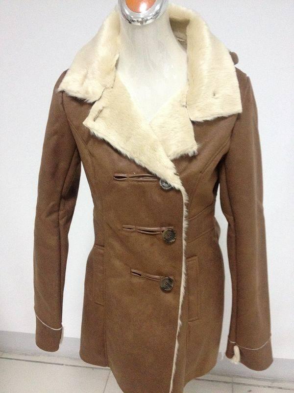 stock fake fur coat