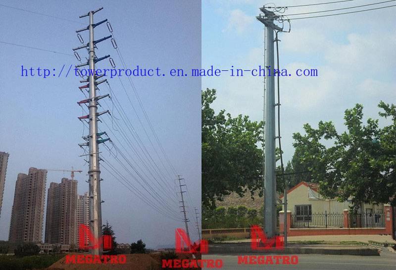 Dead end  transmission pole