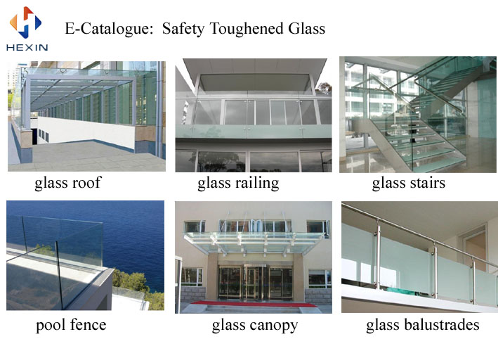 the SGCC certification of safety toughened glass for partition,railing,Balustrades