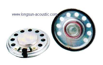 Mylar speaker with metal frame