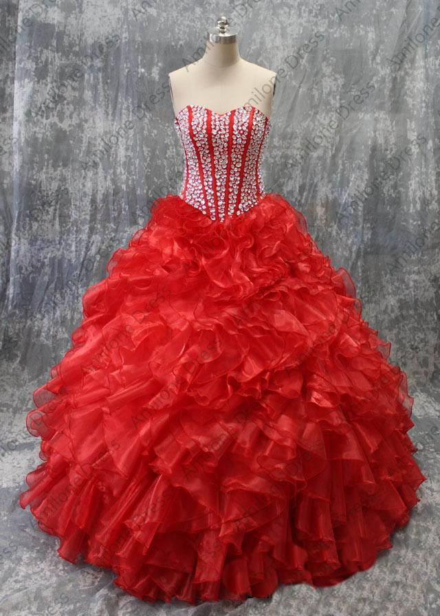 Wholesale 2016 new Real sample fully beaded sweet 15 quinceanera dress Free shipping