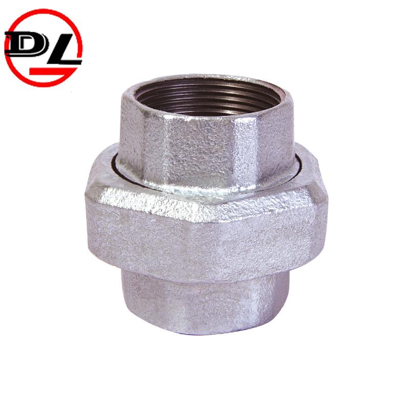 black galvanized malleable iron pipe fitting pipe union