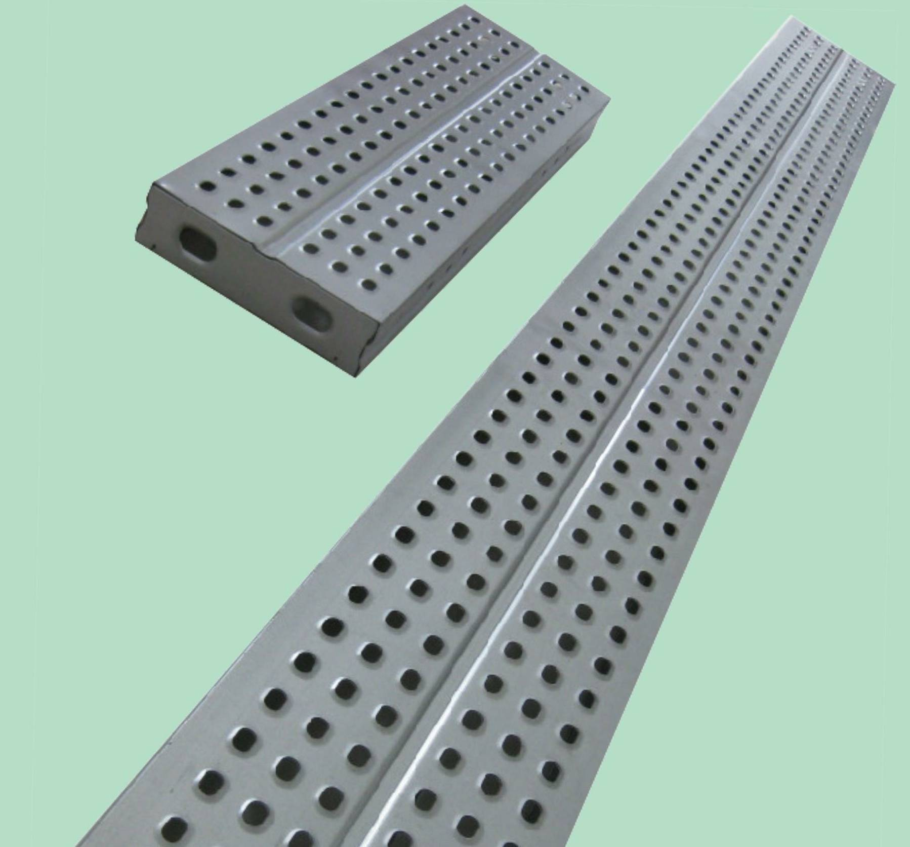 Galvanized steel plank