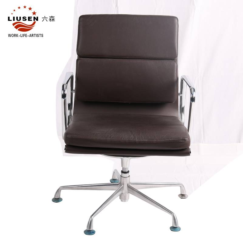 Black Simple and Soft PU Office Executive Chair Adjustable and Swiveling Boss Chair (LS-DB-00011)