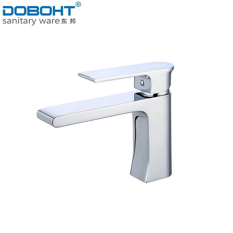 2016 sanitaryware brass single handle chrome bathroom basin faucet mixer