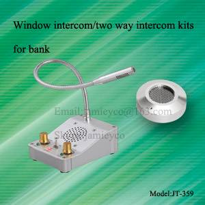 Counter intercom kits for bank
