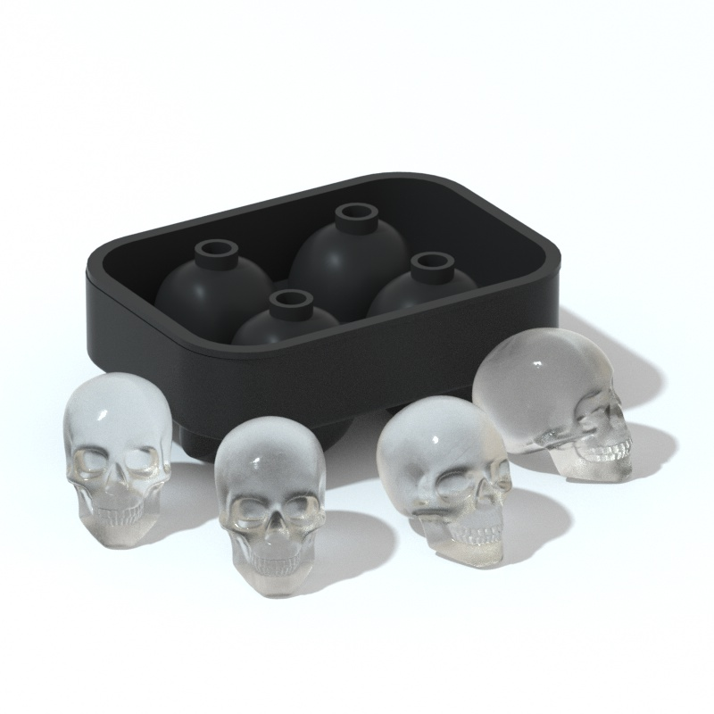 Kitchen Accessories Dropshipping skull shape Ice Cream Cubes Mold