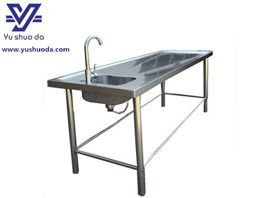 Simple cadaver washing table