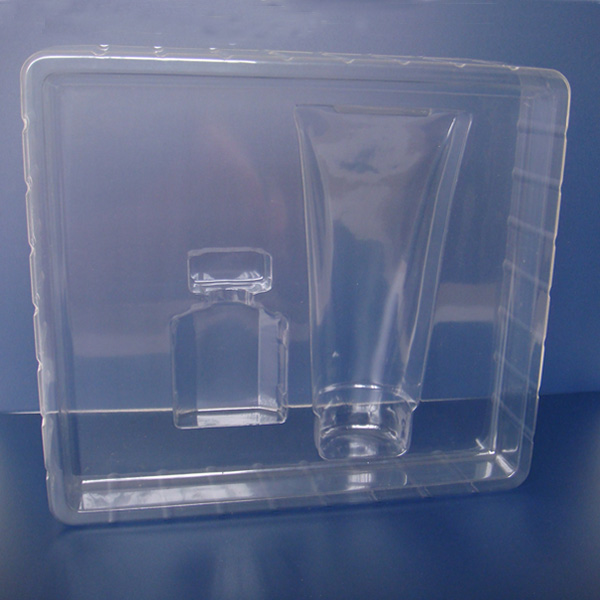 Vacuum forming cosmetic tray