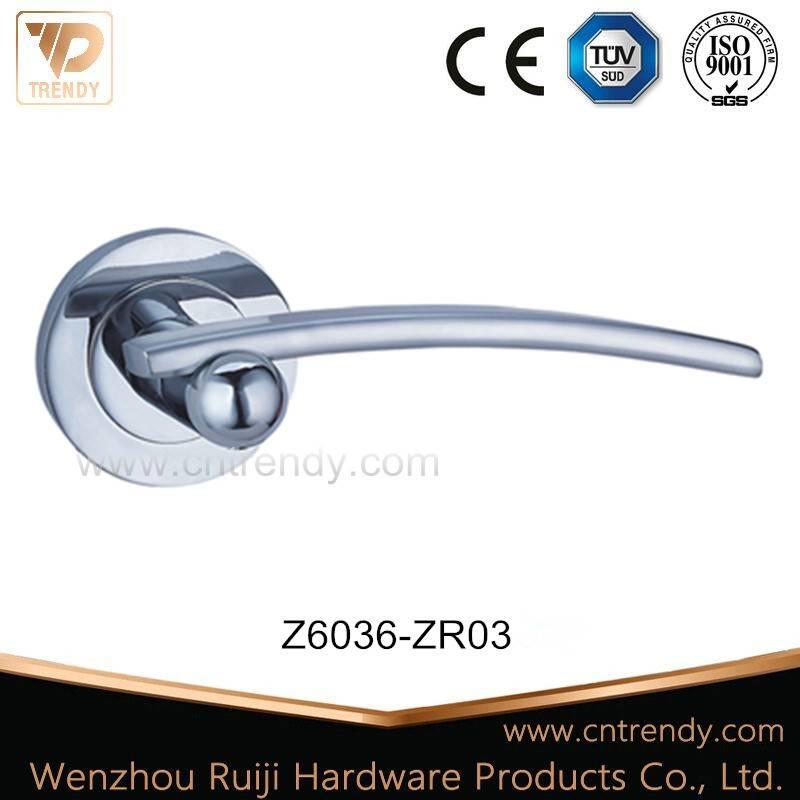 Flowing Line Internal Wooden Door Lever Handles in Cheap (Z6036-ZR03)