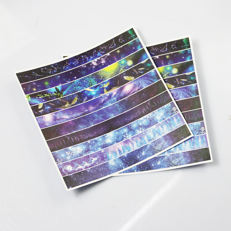Custom printed washi paper sheet