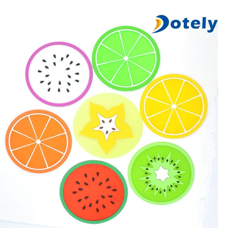 Silicone Coasters Pot Holders Dish Mats Colorful Fruit Slices