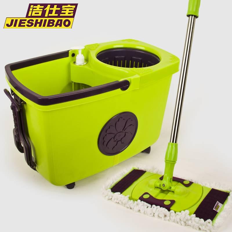 360 Degree Flat Spin Mop, Microfiber Cloth, Walkable Bucket