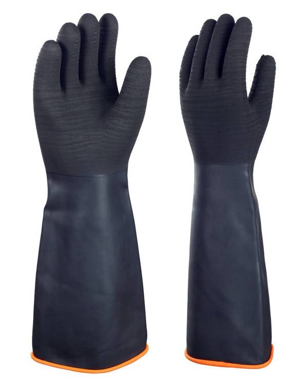 Cheaper price SAFTY HEVERY DUTY LATEX INDUSTRIAL GLOVES