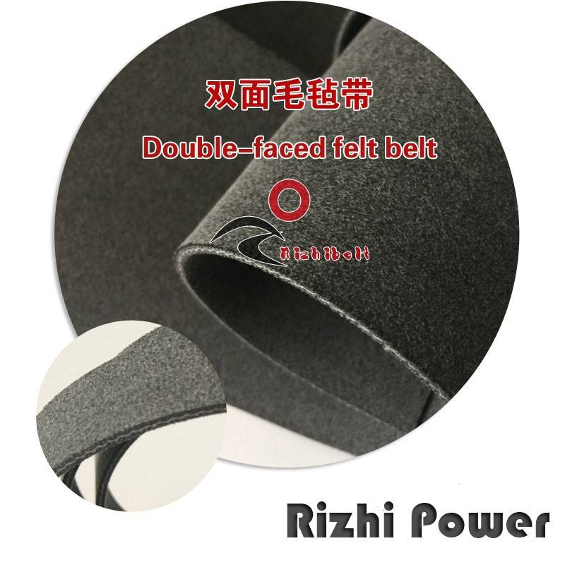 Double Side NN-17E/R25VN Dark Black Felt Conveyor Belt