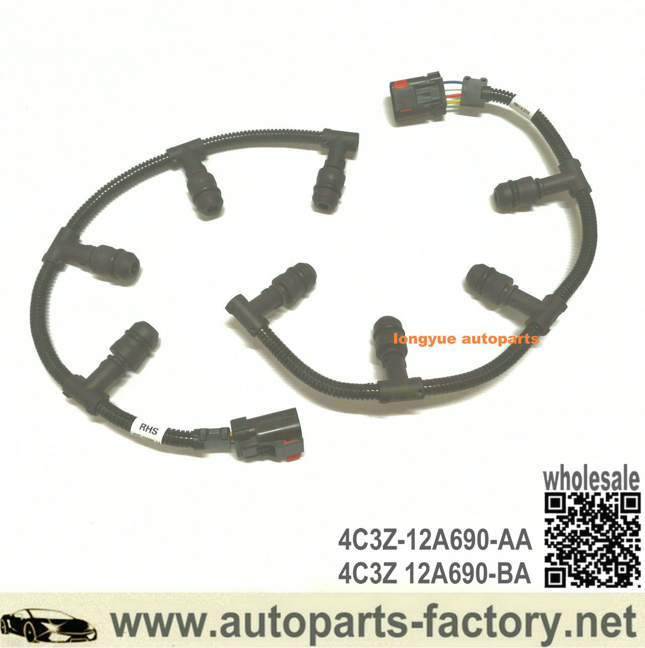 08-10 6.4L Powerstroke Diesel OEM Ford R//H Right Fuel Injector Wiring Harness