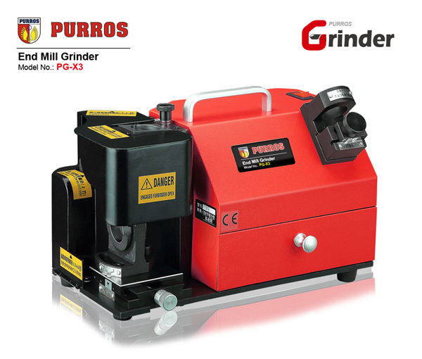 PURROS PG-X3 End Mill Grinder, end mill sharpener grinding tange 4-14mm fast & easy operation