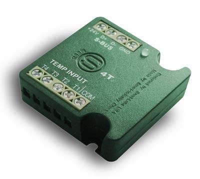 Smart-Bus 4T 4-Port Temperature Input Module for Climate Control,Home Automation