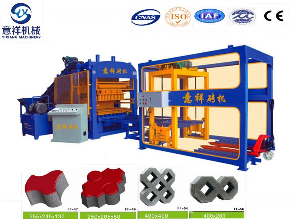 Automatic hydraulic QT6-15 concrete brick block making machine