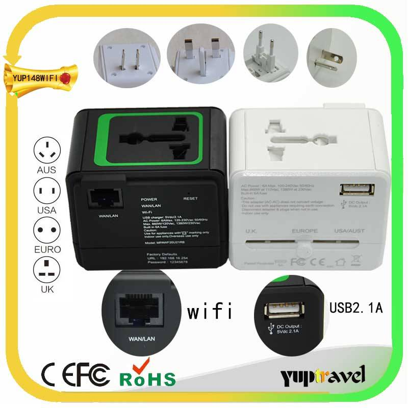 2014 world travel plug adapter with usb with wifi