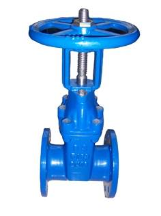 Rising stem resilient seated gate valve BS5163
