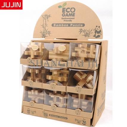 Kids Students Children Intelligent Educational Kits 3D Wooden Bamboo Puzzle Game Toy
