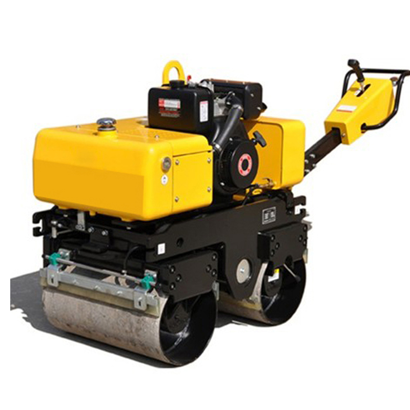 Mini type Handle full hydralic single drum vibratory road roller for sale