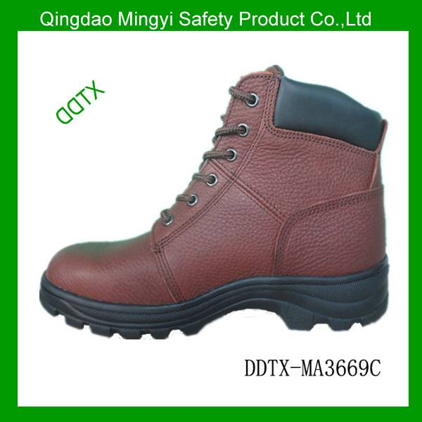 Tumbled leather cemented EN345 safety work shoe