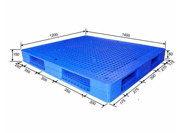 Double sided perforated plastic pallet 1400X1200X150mm