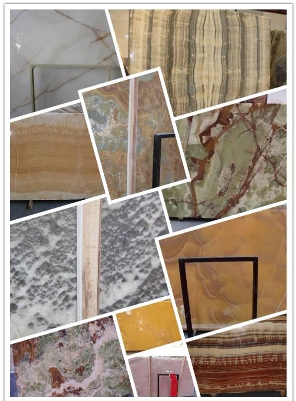 color  onyx slab, tile, cut-to-size