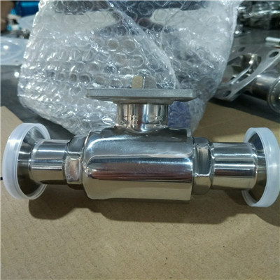 Stainless Steel Sanitary Ball Valve with high platform
