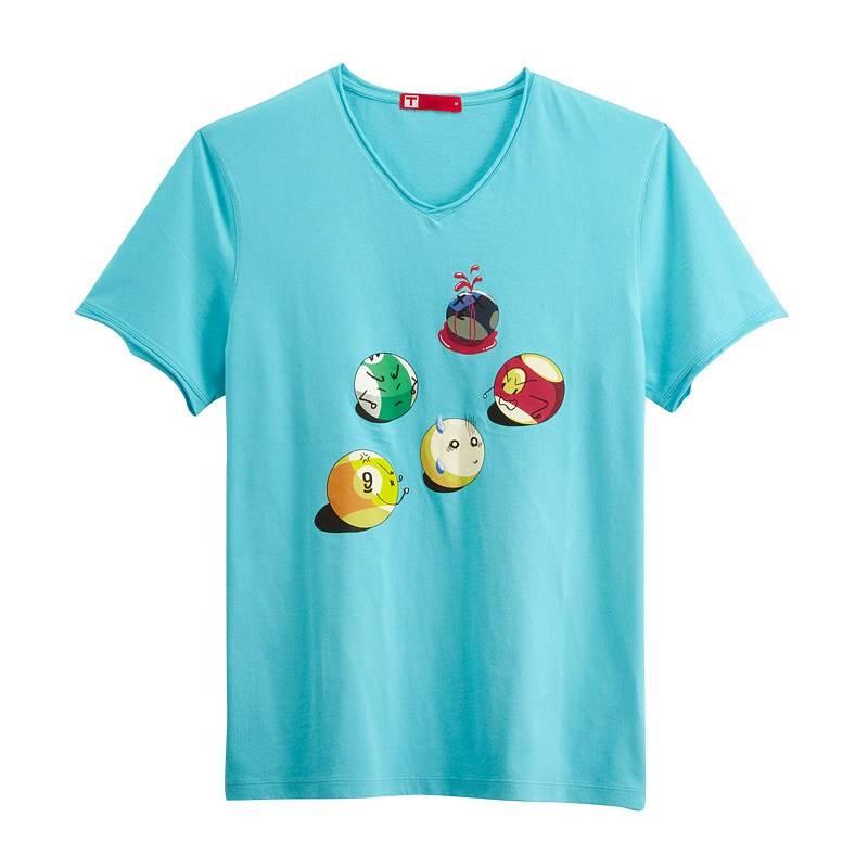 Billiards Ball Short Sleeve T-shirt(Men) Aqua