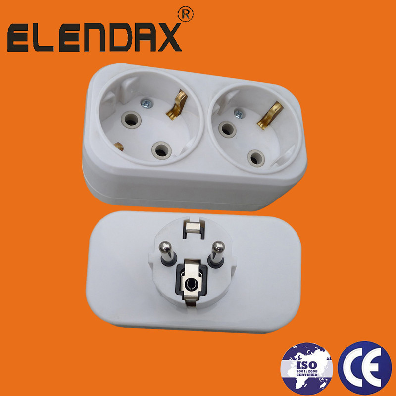 2 pin plug to 2 schuko socket(P8812)