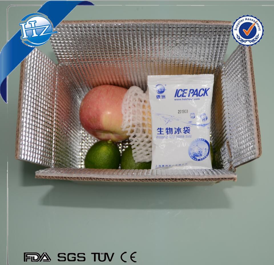 Insulated shipping box for food with insulation dry ice ice cooler box
