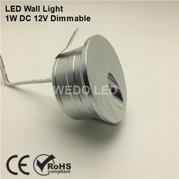 CE RoHS 12V 1W Mini Aluminum LED Wall Stair Light