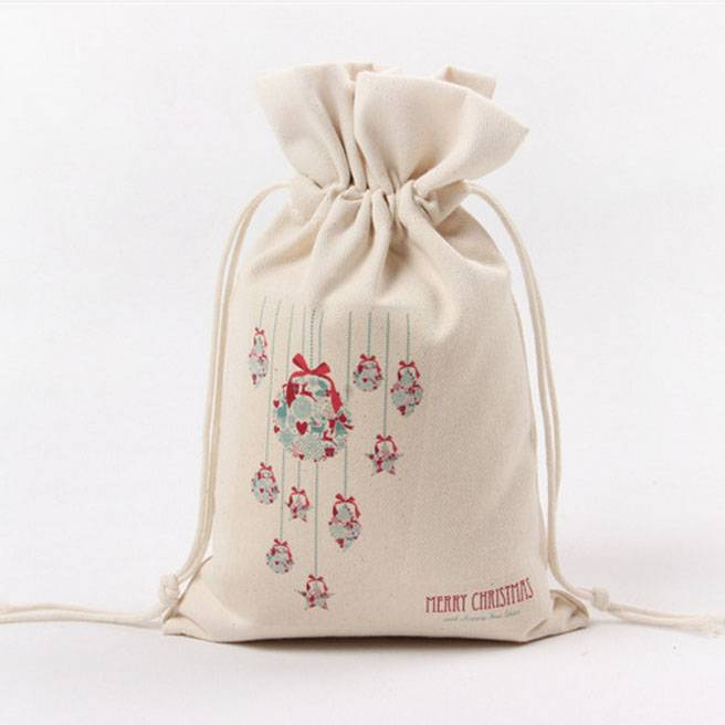 Cotton Drawstring Bag Grocery Christmas Gift storage Pouches Empty Packaging Bags