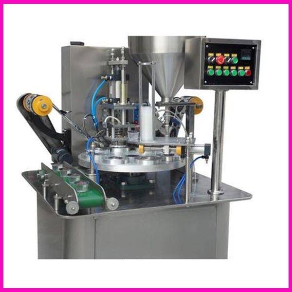 automatic rotary cup fillinmg sealing machine in Sanwan