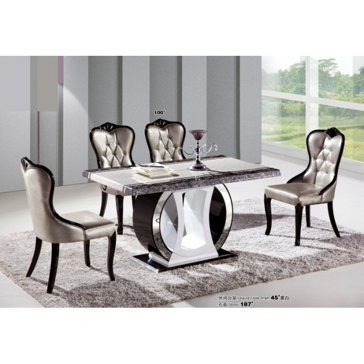 Dining table and chairs 0446-187