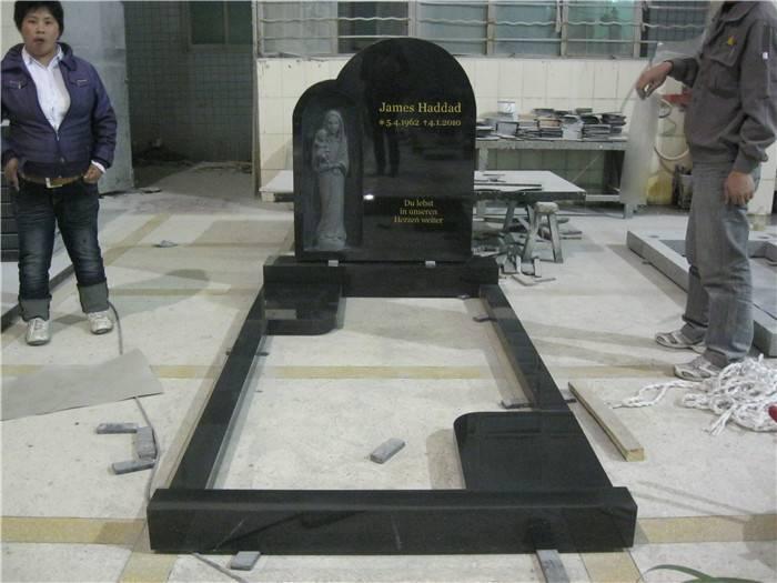 india black granite headstone surround