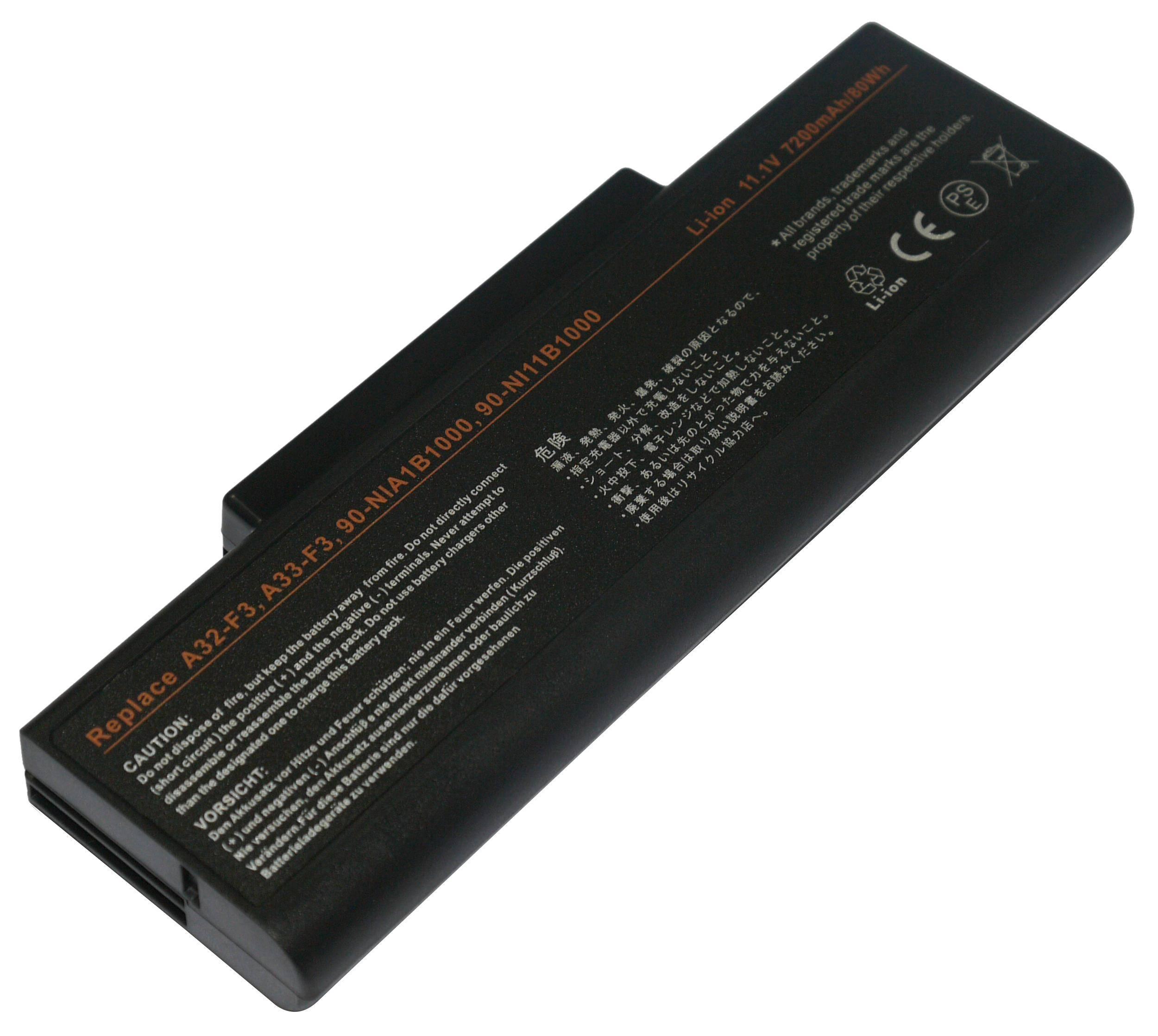 SNY Laptop Battery for ASUS F2F F2Hf F2J F2Je 11.1V