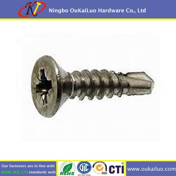 Stainless Steel 316 Pozi Flat Head Self Drilling Screws