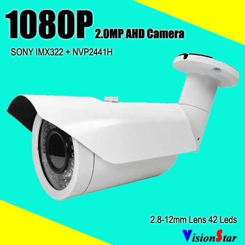 Full HD cctv analog sony cmos sensor ahd bullet camera 1080p ir 40m surveillance video system