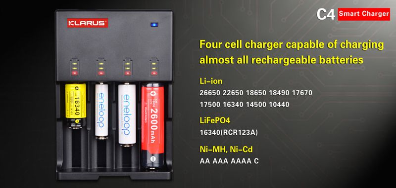 4 Cell Charger-Klarus C4